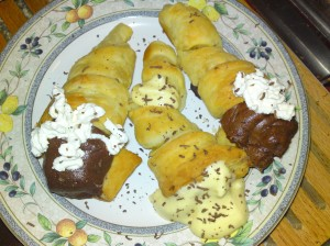 Puff Pastry Cream Horns