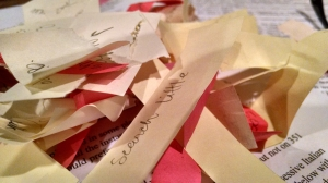 Sticky Note Confetti, Love in the Elephant Tent